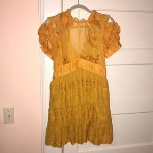 Self-Portrait tiered dress